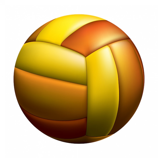 Isolated volleyball ball Premium Vector
