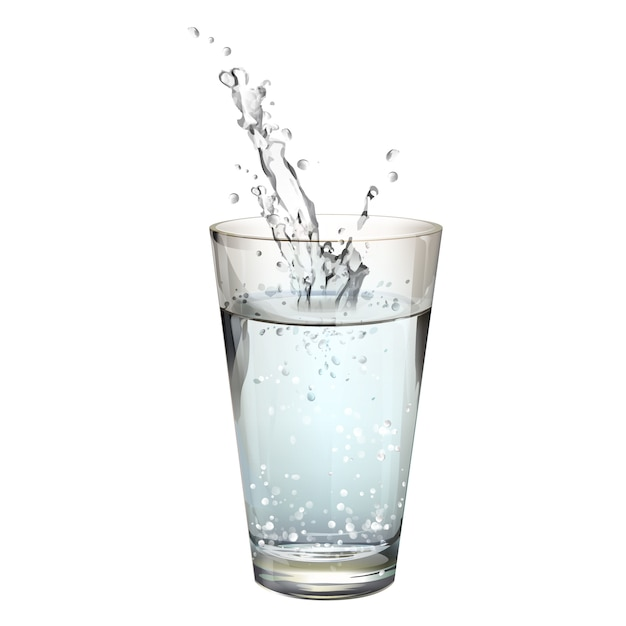 Isolated water glass Free Vector