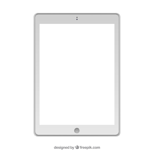 Isolated white tablet design Free Vector