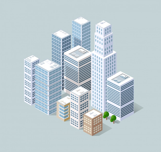 Isometric 3d city Vector | Premium Download