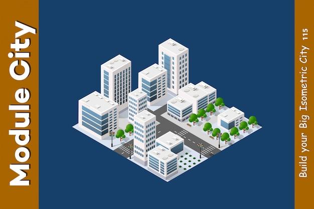 Isometric 3d landscape top Premium Vector