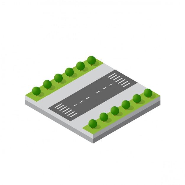 Isometric 3d module district Premium Vector