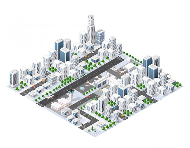 Isometric area landscape Premium Vector