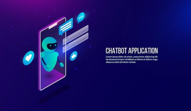 Isometric automation chatbot Premium Vector