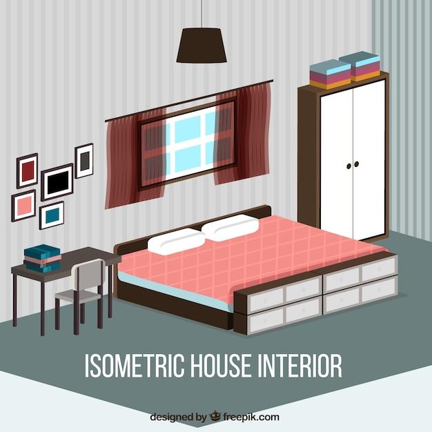 Isometric Bedroom Vector