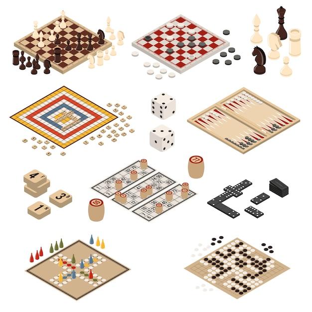 Isometric board games Premium Vector