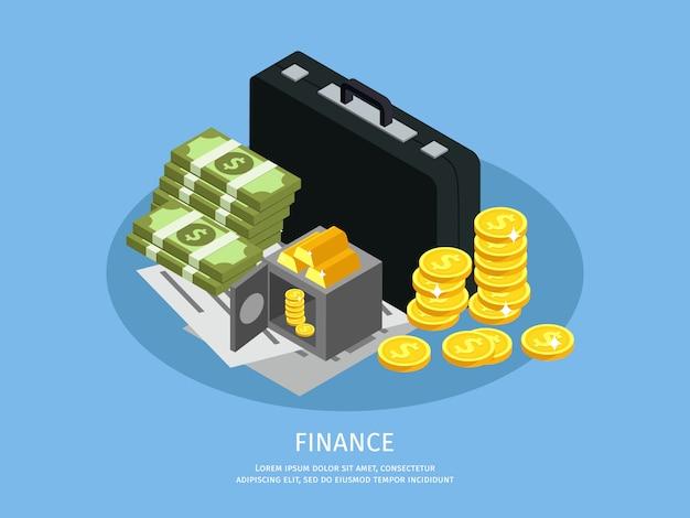 Concetto di finanza aziendale isometrica Vettore gratuito