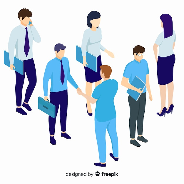 Isometric business people design Free Vector