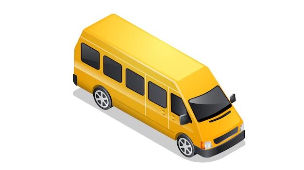 Иконка автомобиль изометрии, изолированные на белом Бесплатные векторы