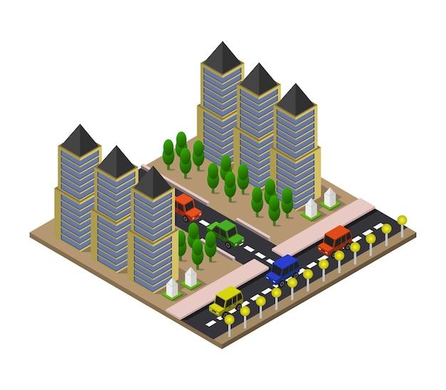 Изометрический город Premium векторы