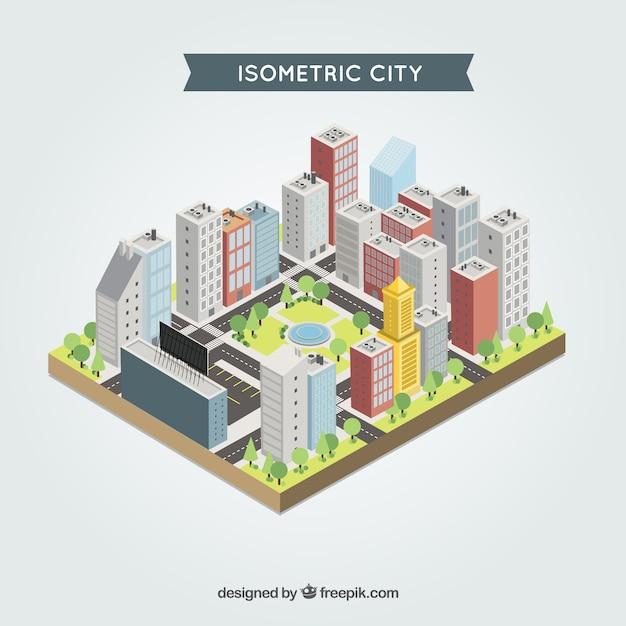 Isometric city Premium Vector