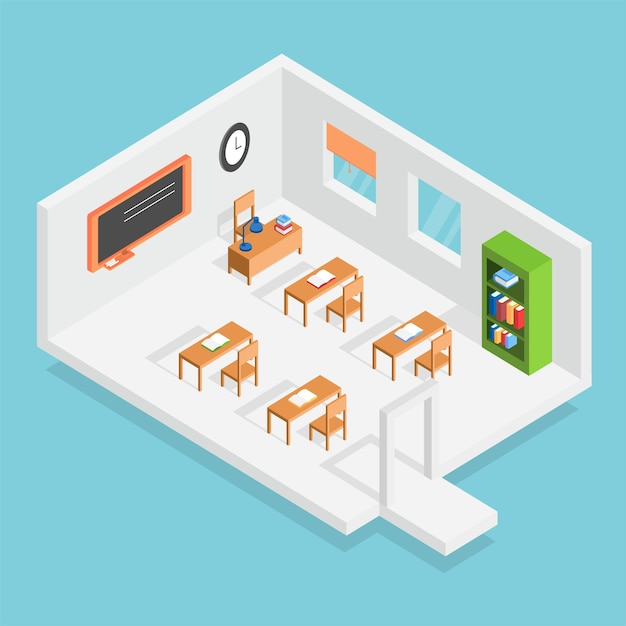 Isometric class design Vector | Free Download