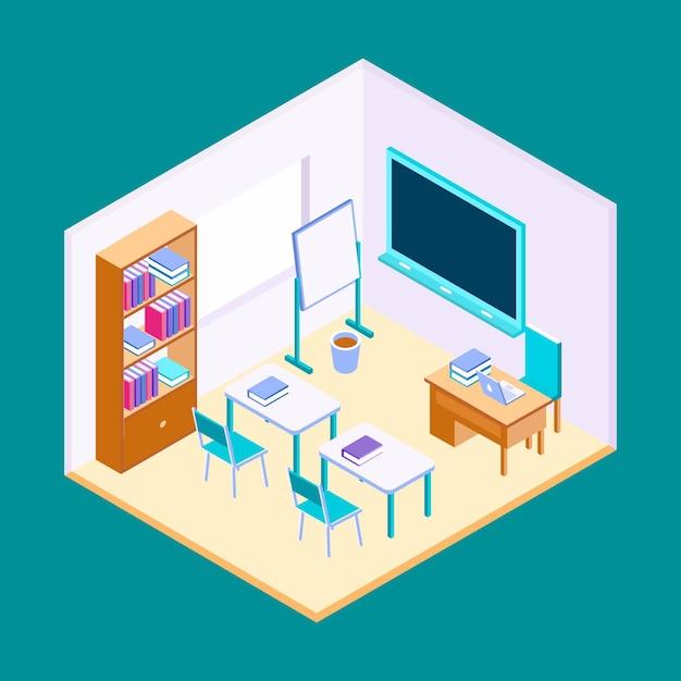 Illustrazione di classe isometrica Vettore gratuito
