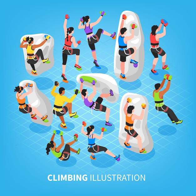 等尺性登山スポーツの背景 無料ベクター