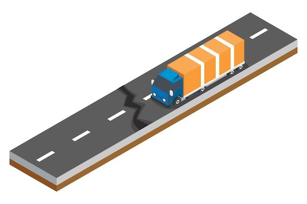 Isometric concept of road accidents Premium Vector