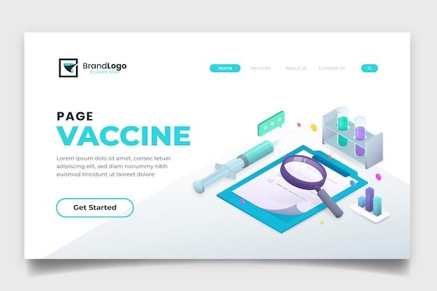 Pagina di destinazione del vaccino contro il coronavirus isometrico Vettore gratuito