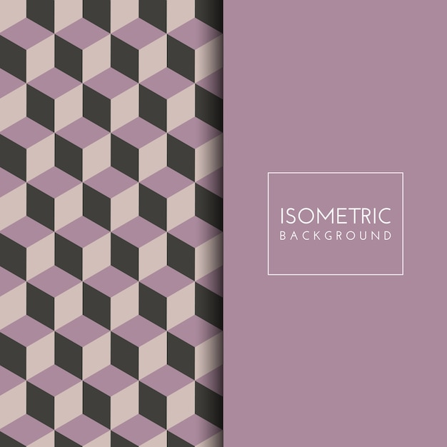 Isometric cube pattern background Free Vector