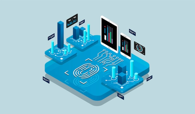 Isometric design concept virtual reality and augmented reality Premium Vector