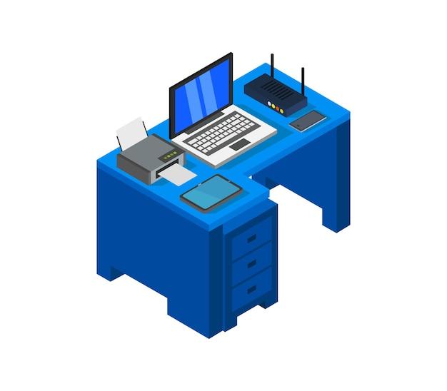 Изометрический стол Premium векторы