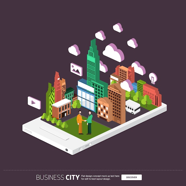 Isometric digital device Premium Vector