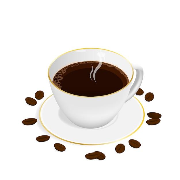 Isometric espresso coffee cup vector Premium Vector