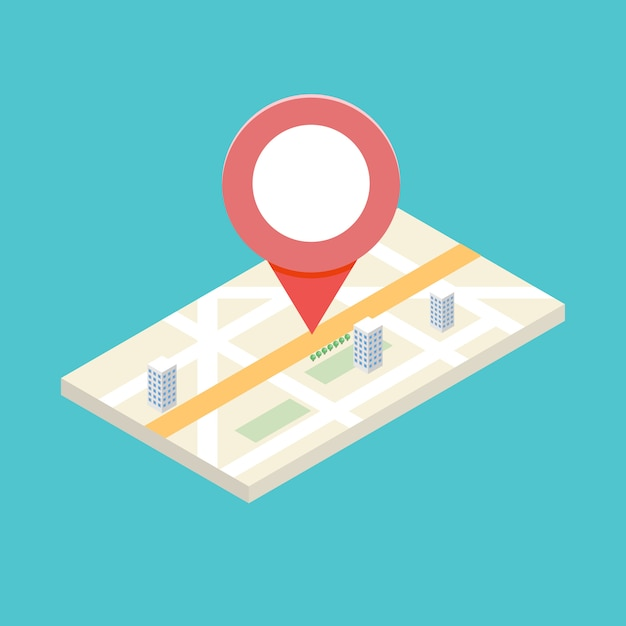 Isometric gps icon concept for  mobile application.  illlustration. Premium Vector
