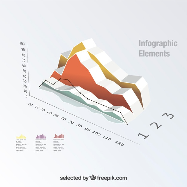 Isometric Graph Template Free Vector  Free Graph Template