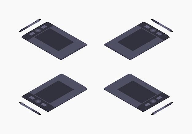 Изометрический графический планшет Premium векторы