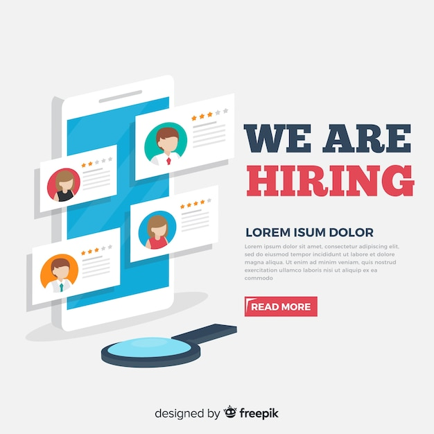 Isometric hiring illustration template Free Vector