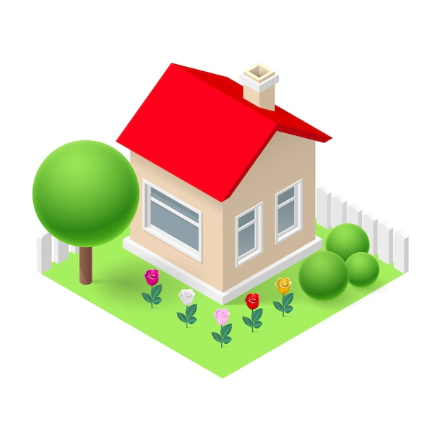 Isometric home Premium Vector