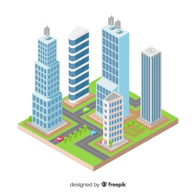 Isometric housing collection Free Vector