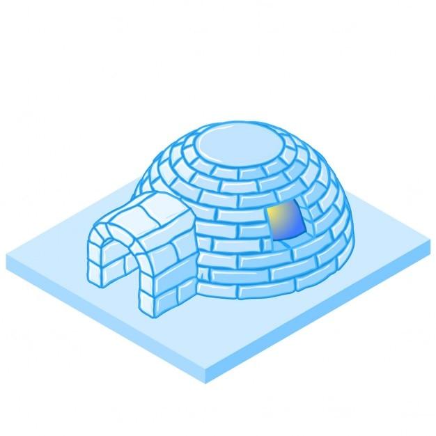 Isometric igloo Free Vector