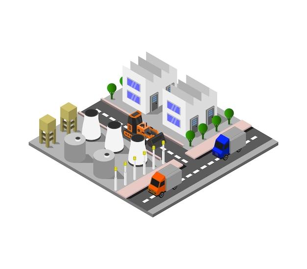 Изометрическая промышленность Premium векторы