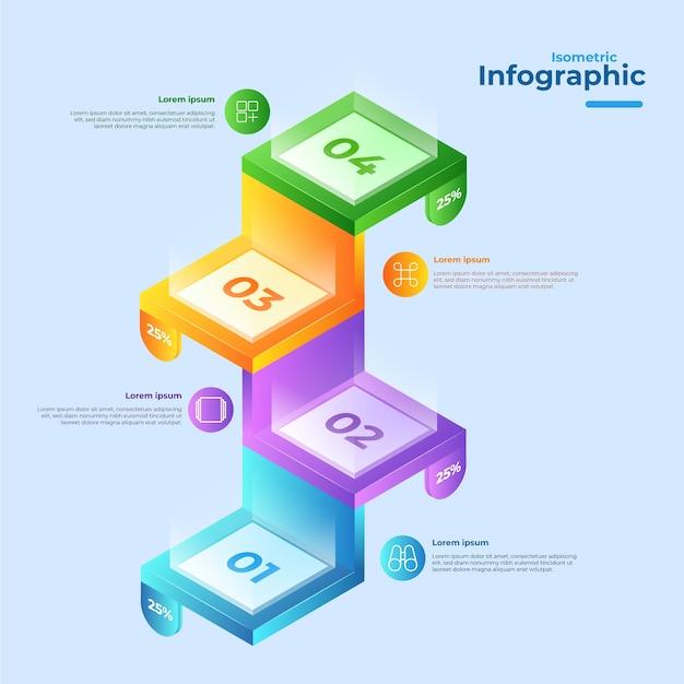 Изометрические инфографики дизайн коллекции Бесплатные векторы