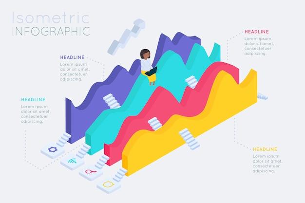 Collezione isometrica infografica Vettore gratuito