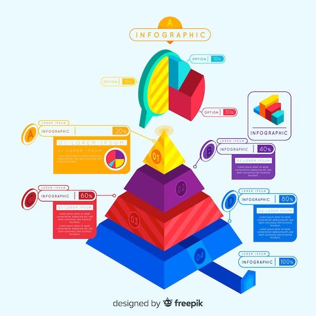 Isometric infographic Free Vector