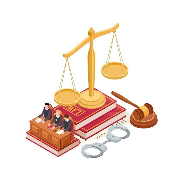 等尺性の法則と正義の要素 Premiumベクター