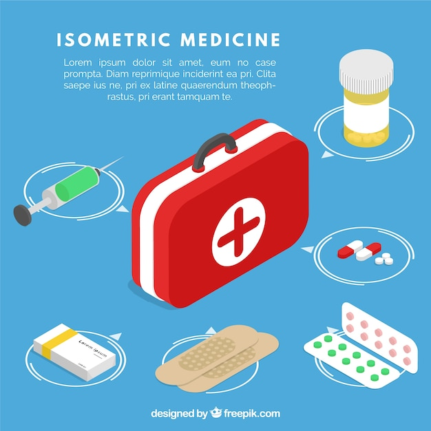 Isometric medical elements collection