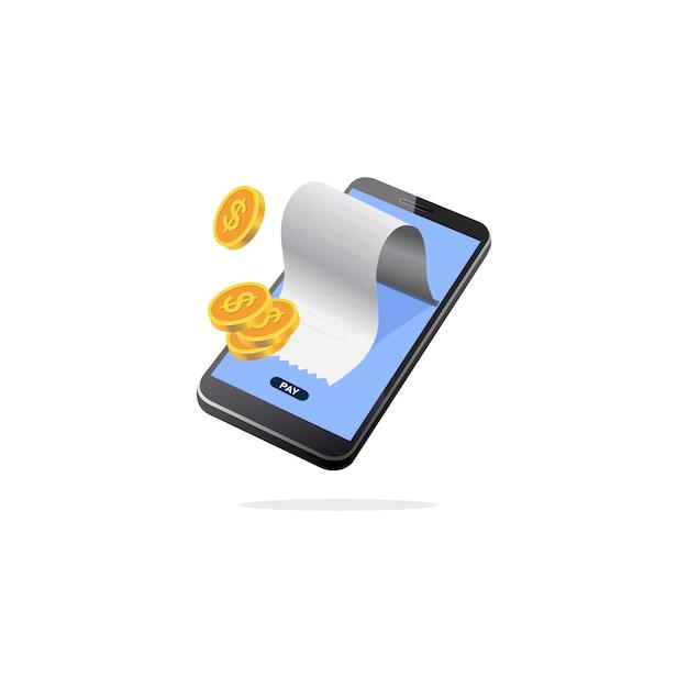 Isometric mobile payment Premium Vector