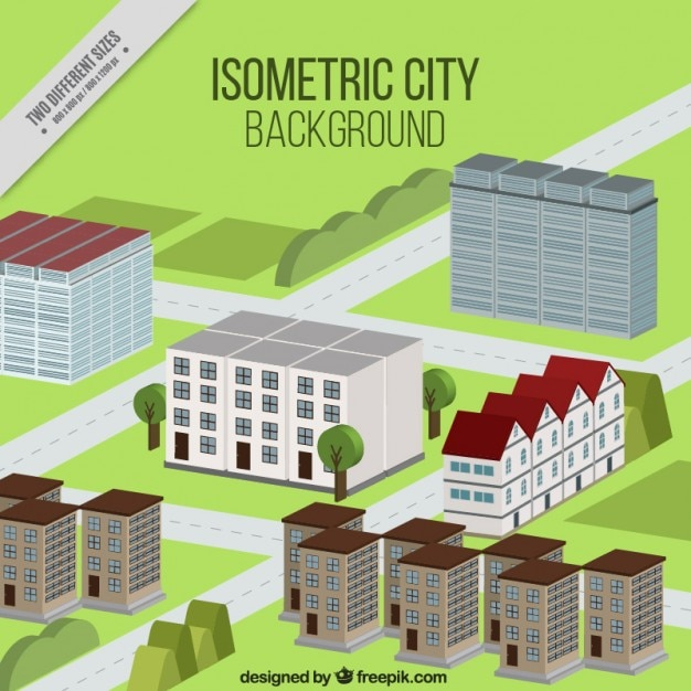 Isometric modern city background