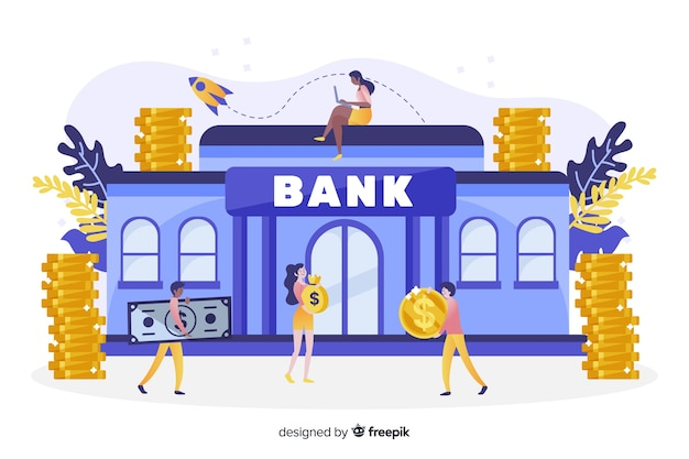 Isometric money saving concept background Free Vector