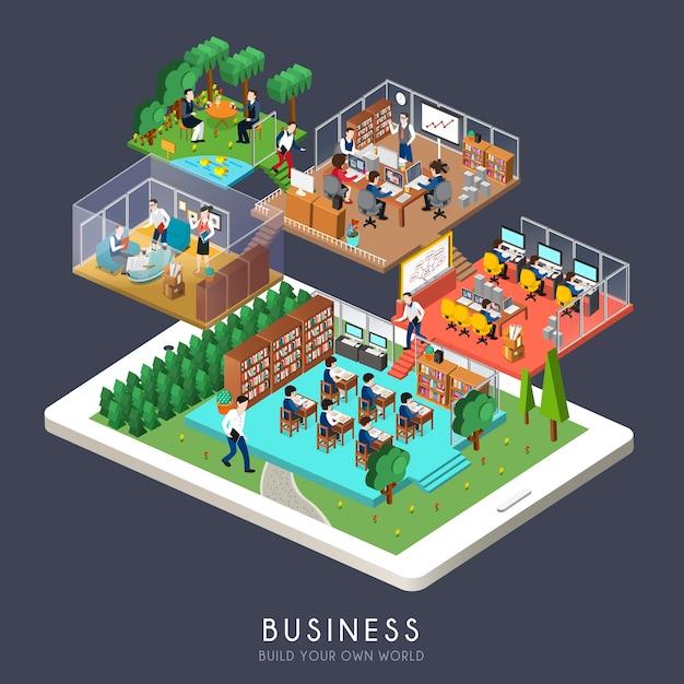 Изометрические бизнес-концепции Premium векторы