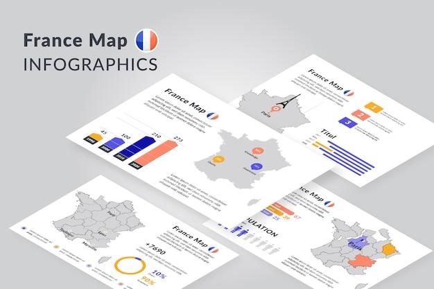 等尺性パリ地図インフォグラフィック Premiumベクター