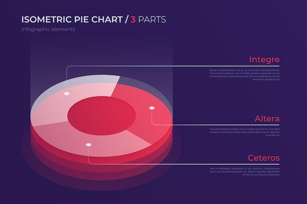 Дизайн изометрической круговой диаграммы, современный шаблон для создания инфографики, презентаций, отчетов, визуализаций. глобальные образцы. Premium векторы