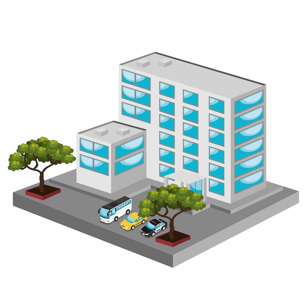 Isometric place Free Vector