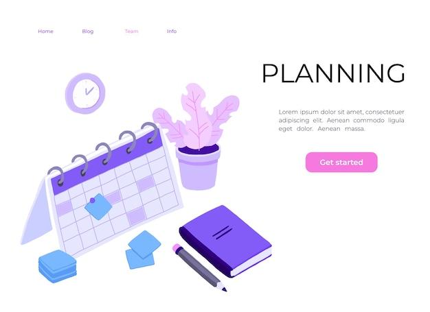 Изометрическое планирование расписаний бизнес-задач на неделю. Premium векторы