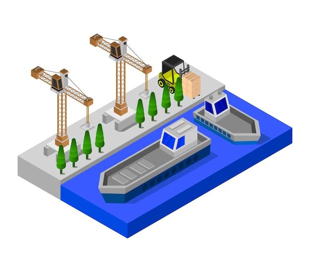 Изометрический порт Premium векторы