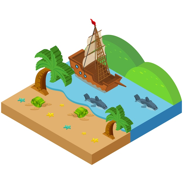 Isometric river design