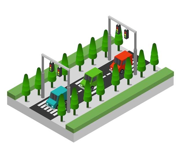 Isometric road Free Vector