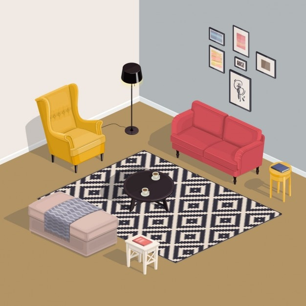 Isometric Room Vector Free Download